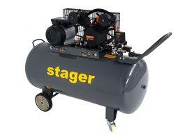 Stager HMV0.25/250 compresor aer, 250L, 8bar, 250L/min, monofazat, angrenare curea