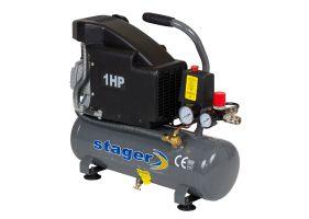 Stager HM1010K compresor aer, 6L, 8bar, 126L/min, monofazat, angrenare directa