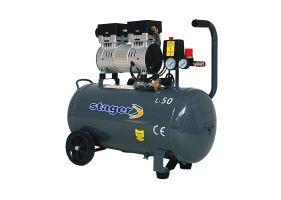 Stager HM0.75JW/50 compresor aer, 50L, 8bar, 165L/min, monofazat, angrenare directa, silentios