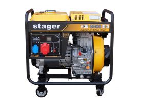 Stager YDE6500E3 Generator open frame diesel trifazat, 5.5kW, pornire la cheie
