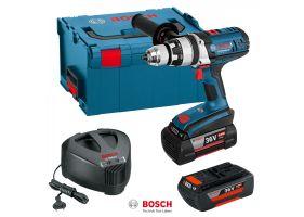 Bosch GSB 36 VE-2 LI Masina de gaurit cu percutie cu acumulator, 36V + 2 x Acumulatori GBA 36V 4.0Ah + Incarcator AL 3640 CV + L-Boxx 238