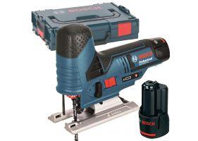 Bosch GST 12V-70 Ferastrau vertical cu acumulator, 12V, 70mm + 2 x Acumulatori GBA 12V 2.0Ah + Incarcator rapid GAL 1230 CV + L-Boxx 102