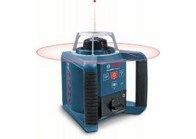 Bosch GRL 300 HV+LR1+RC1+WM4 Set nivela laser rotativa, 60m, receptor 300m, precizie 0.1 mm/m