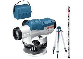Bosch GOL 32 G + BT160 + GR500 Professional Nivela optica, factor de marire 32x, precizie 1 mm/30 m