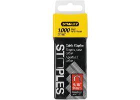 """Stanley 1-CT109T Capse pentru cabluri – tip 7/CT100 14mm 9/16"""" - 1000 buc"""