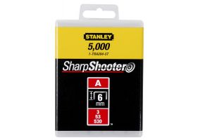 """Stanley 1-TRA204T Capse standard 6 mm / 1/4"""" 1000 buc. tip a 5/53/530"""