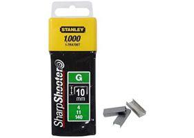 "Stanley 1-TRA706T Capse de inalta calitate 10 mm / 3/8"" 1000 buc. tip g 4/11/140"