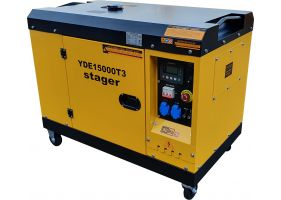 Stager YDE15000T3 Generator insonorizat diesel trifazat 13kVA, 19A, 3000rpm