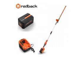 Redback Pachet E920D+EP40+EC20 Trimmer de gard viu extensibil 40V, 2400mm, 520mm, acumulator 40V/4Ah, incarcator 40V/2A