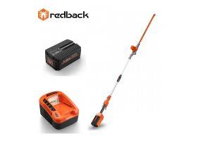 Redback Pachet E920D+EP60+EC50 Trimmer de gard viu extensibil 40V, 2400mm, 520mm, acumulator 40V/6Ah, incarcator 40V/5A