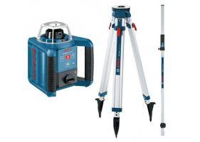 Bosch GRL 300 HV Nivela laser rotativa (300 m) + BT 170 Trepied + GR 240 Rigla